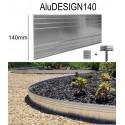 AluDesign Höhe 14cm  3x1,19m Randbefestigung aus Aluminium