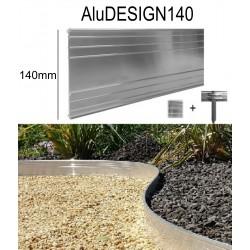 AluDesign*100: 3x1,19m Randbefestigung aus Aluminium