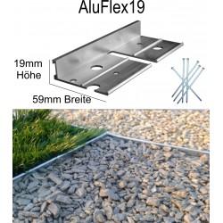 AluFlex19 Höhe 1,9cm  Länge 119 cm Randbefestigung Pflasterkante Randbegrenzung