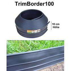 TrimBorder100 Höhe 10 cm  Rasenkante Mähkante Beeteinfassung