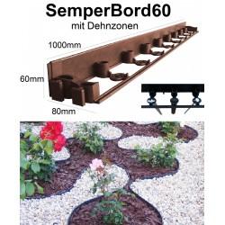 SemperBord60 Terrakotta 40m + 120 Anker Rasenkante Beeteinfassung Baumumrandung