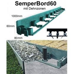 SemperBord60 Grün 40m + 120 Anker Rasenkante Beeteinfassung Baumumrandung