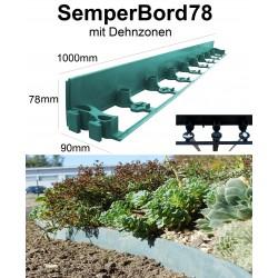 SemperBord78 Grün 40m + 120 Anker Pflasterkante Randstein Beeteinfassung