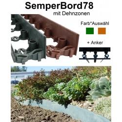SemperBord78 Terrakotta Grün 1m + Anker Pflasterkante Beetumrandung Randbegrenzung