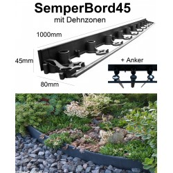 SemperBorder45 volle Palette 924m + 2772 Anker