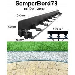 SemperBorder78 volle Palette 576m + 1728 Anker