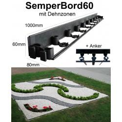 SemperBorder60 halbe Palette 336m + 1008 Anker