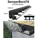 SemperBord78 40m + 120 Anker Randbefestigung Rasenkante Beeteinfassung Randstein