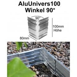 AluUnivers100 Höhe 10cm Winkel 90 Grad Inner Ecke