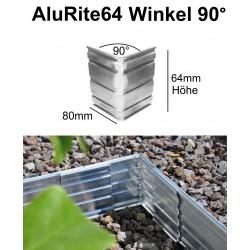 AluRite64 Höhe 6,4cm Winkel 90 Grad Inner Ecke