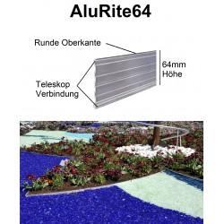 AluRite64 Höhe 6,4cm 3x1,19m Randbefestigung Rasenkante Rasenbegrenzung AluBorder Beeteinfassung