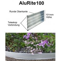 AluRITE100 Höhe 10cm 3x1,19m Randbefestigung Rasenkante Rasenbegrenzung Mähkante Beeteinfassung