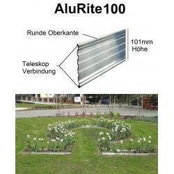 AluRite100 Höhe 10cm 10x2m Randbord Rasenkante Rasenbegrenzung Mähkante Beetumrandung