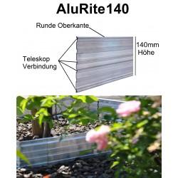 AluRite140 Höhe 14cm 3x1,19m Randbefestigung Rasenkante Rasenbegrenzung Mähkante Beeteinfassung