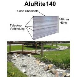AluRite140 Höhe 14cm 10x2m Randbefestigung Rasenkante Rasenbegrenzung Mähkante Beeteinfassung