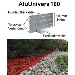 AluUnivers100 Höhe 10cm 3x1,19m Randbefestigung Rasenkante Rasenbegrenzung Mähkante AluBorder