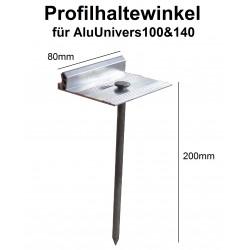 AluUnivers Profilhaltewinkel + Nagel