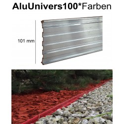 AluUnivers Höhe 10cm in 53 Farben 10x2m Randbegrenzung aus Aluminium