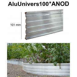 AluUnivers Höhe 10cm ANOD*Farben 10x2m Randbegrenzung aus Aluminium